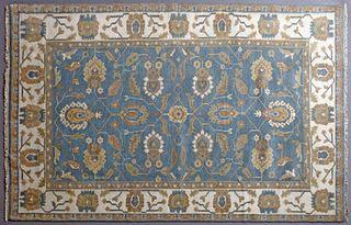 Turkish Angora Oushak Carpet, 5' x 8'.