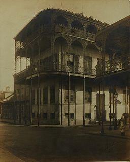 "Joseph ""Pops"" Whitesell (1876-1958, New Orleans), ""French Quarter Balconies,"" 20th c., bromide print, pencil signed lower right, shr..."
