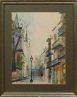"Nestor Hippolyte Fruge (1916-2012, New Orleans), ""Pere Antoine's Alley,"" 1976,"
