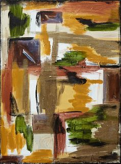 "Margaret Orr (New Orleans), ""Abstract,"" 20th c., oil on canvas, signed lower right, gallery wrapped, H.- 24 in., W.- 18 in."