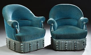 Pair of French Bergeres, 20th c