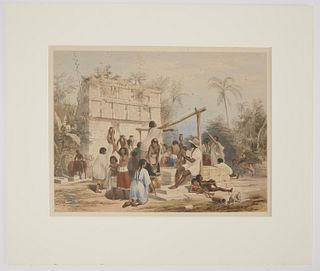 Frederick Catherwood Hand Colored litho No 18