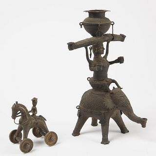 Two Antique Bronze Indian Figures