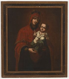 Early Madonna & Child Painting