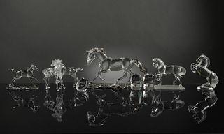 7 Boxed Swarovski Crystal Horses inc. SCS