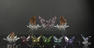 11 Boxed Swarovski Colored Butterflies, Insects