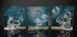 4 Boxed Swarovski Wonders of the Seas 2005-2007