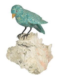 Carved Amazonite 'Songbird'