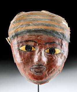 Egyptian Polychrome Cartonnage Mummy Mask