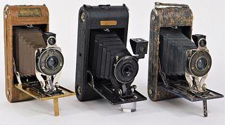 Lot of 3 Agfa Ansco Folding Cameras