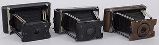 Lot of 3 Ansco Vest Pocket Cameras