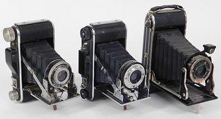 Lot of 3 Ansco Folding Cameras