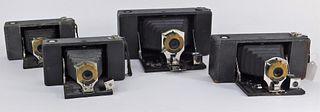 Lot of 4 Ansco Folding Buster Brown Box Cameras