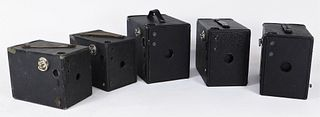 Lot of 5 Ansco Buster Brown Box Cameras