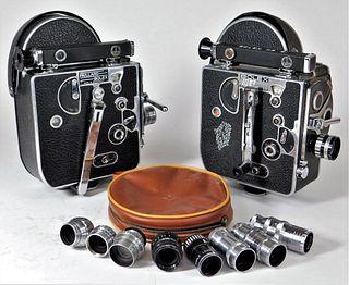 Lot of 2 Bolex Movie Cameras