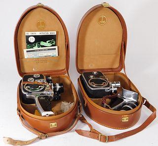 Lot of 2 Bolex Double 8mm Movie Cameras