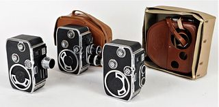 Lot of 3 8mm Bolex Cameras