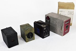 Lot 4 Collectible Box Cameras