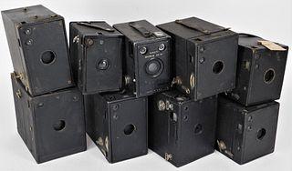 Lot of 9 Box Cameras #2