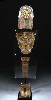 Romano-Egyptian Gilded Cartonnage Mummy Set