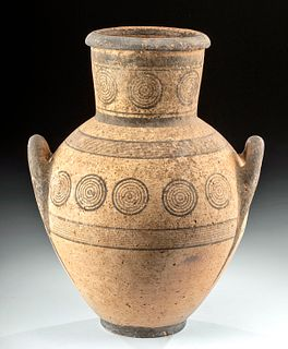 Cypriot Bi-chrome Amphora w/ Bullseye Motifs