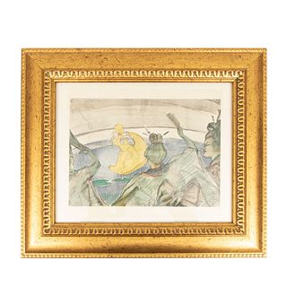 Henri de Toulouse-Lautrec. Mujeres. Con monograma en plancha. Litografía edición póstuma. Enmarcado. 34 x 24 cm