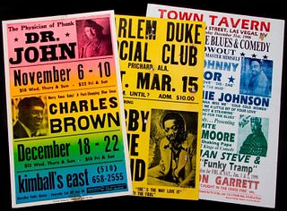 Three vintage Blues posters.
