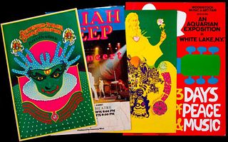 Four vintage posters.