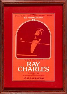 Ray Charles Show '75 Opera House Poster