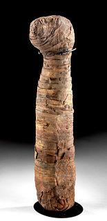 Egyptian Linen-Wrapped Mummified Cat, ex-B. Jamieson