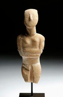 Greek Cycladic Marble Figure Spedos Type, ex-Christie's