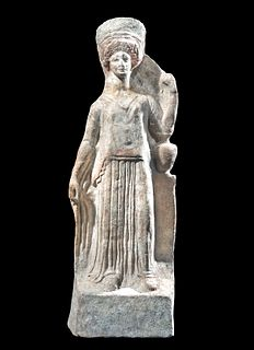 Canosan Pottery Female Votive Figure