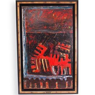 Perez Celis (Argentine,1939-2008) Oil on Canvas