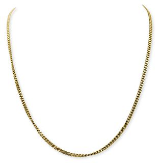 Vintage 18k Gold Cuban Link Necklace