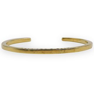 "14kt Gold ""Live Or Let Live"" Cuff"