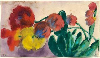 Emil Nolde (German, 1867-1956)      Tulpen und Kakteen