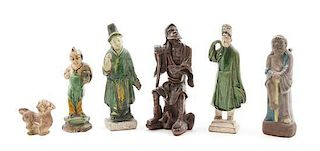 * A Group of Chinese Decorative Articles Height of tallest 8 inches.