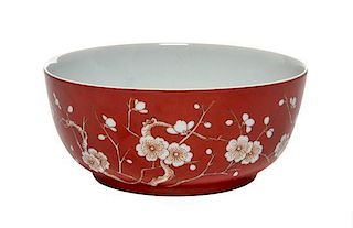 A Copper Red Glazed Bowl Diameter 6 inches.