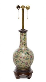A Chinese Porcelain Vase Height of porcelain 12 inches.