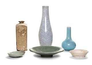 * A Group of Six Ceramic Articles Length 21 x width 15 inches.