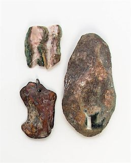 * A Group of Four Mineral Specimens Length of longest 3 1/2 inches.