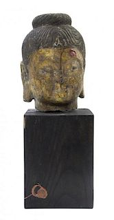 * A Stone Head of Buddha Height 9 inches.
