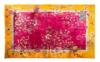 A Chinese Wool Rug 11 feet 4 inches x 8 feet 8 inches.