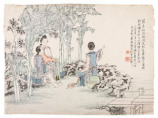 Su Zhongju, , Ladies in a Garden