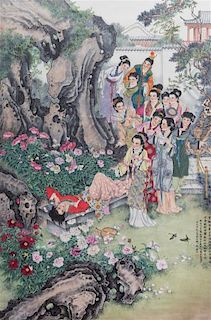 Attributed to Huang Jun, (1914-2011), Hong Lou Meng(Dream of the Red Chamber)
