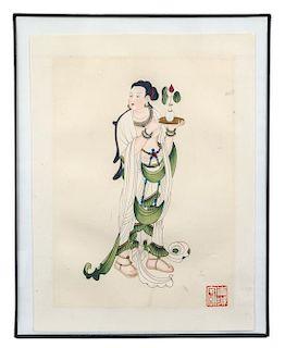 * After Zhang Daqian, (1899-1938), Guanyin