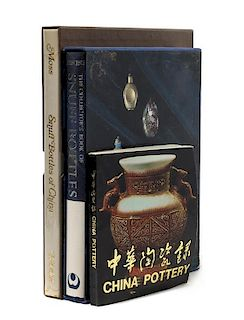 * Three Reference Books Pertaining Chinese Pottery and Snuff Bottles