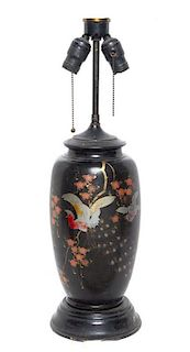 A Japanese Vase Height overall 23 inches.
