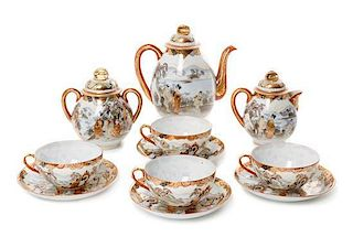 * A Japanese Porcelain Tea Service Height of teapot 7 1/8 inches.