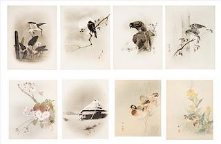A Group of Twelve Ink and Color Paintings on Paper Height of largest 18 3/4 x width 14 1/2 inches.
